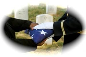 Folded Veteran Burial Flag
